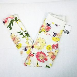 Chaser Floral Print Legging size Small NWT